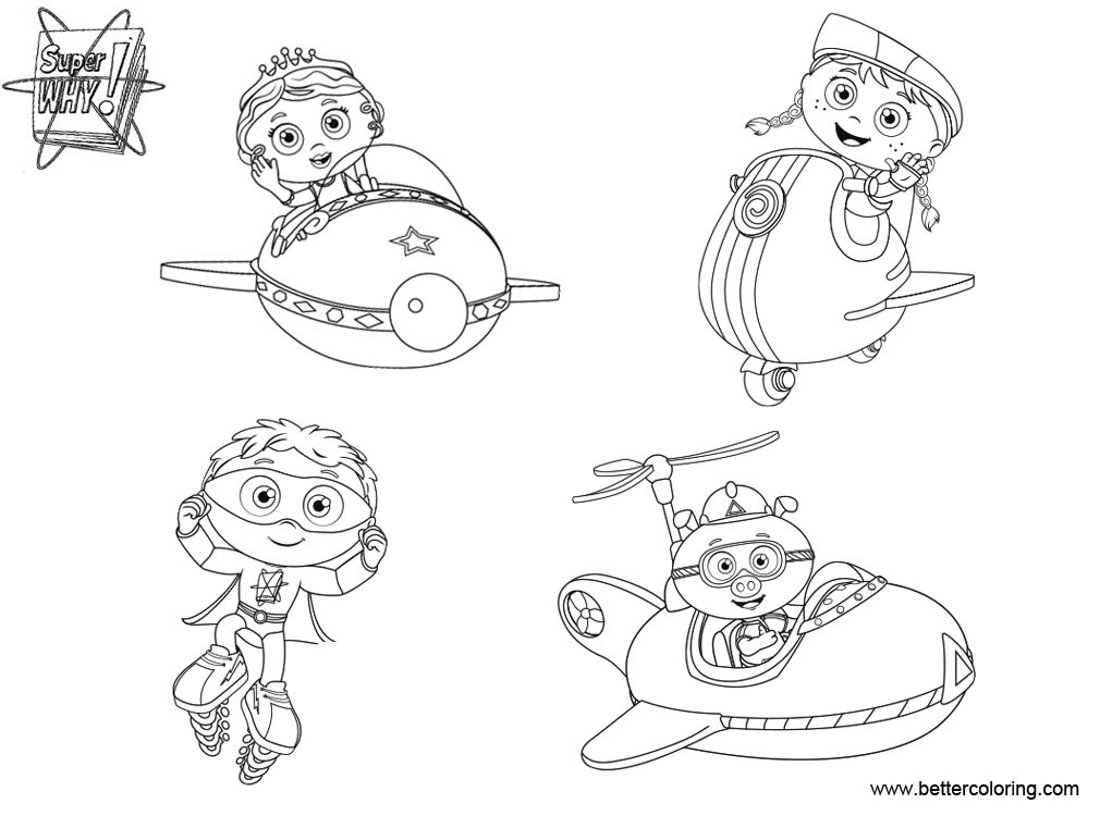 super why coloring pages printable - super why characters coloring pages free printable