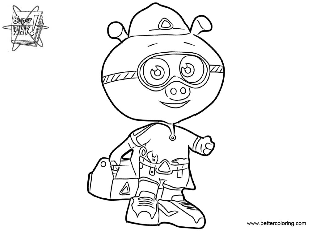 Super Why Coloring Pages Alpha
