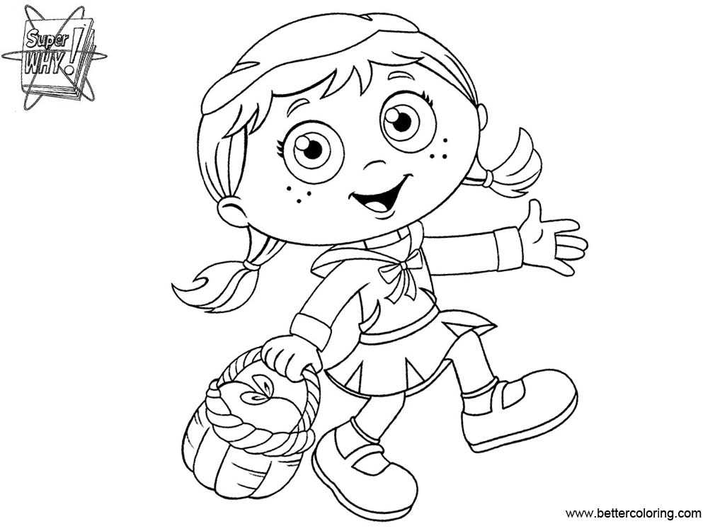 Free Super Why Coloring Pages Characters printable