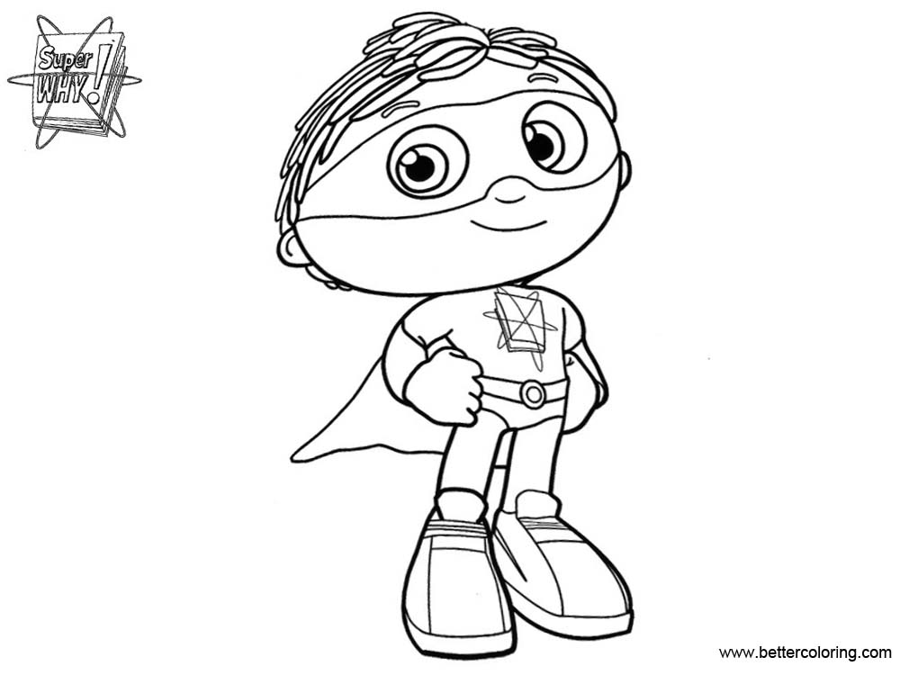 Free Super Why Coloring Pages Clip Art printable