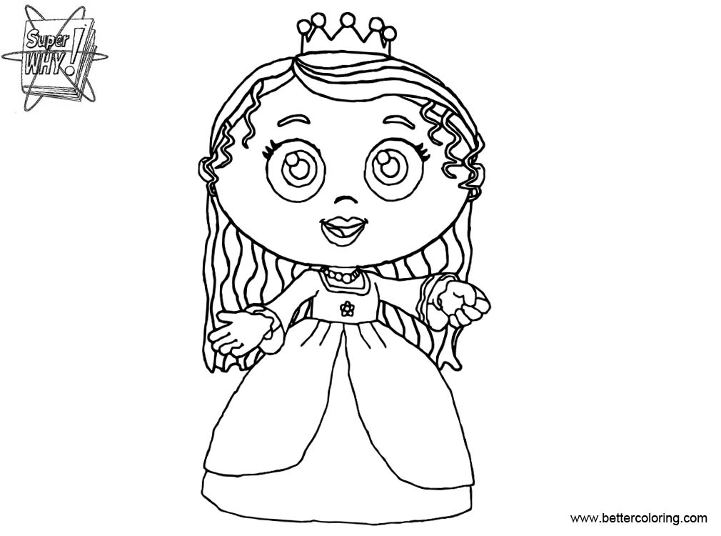 Free Super Why Coloring Pages Princess Pea printable