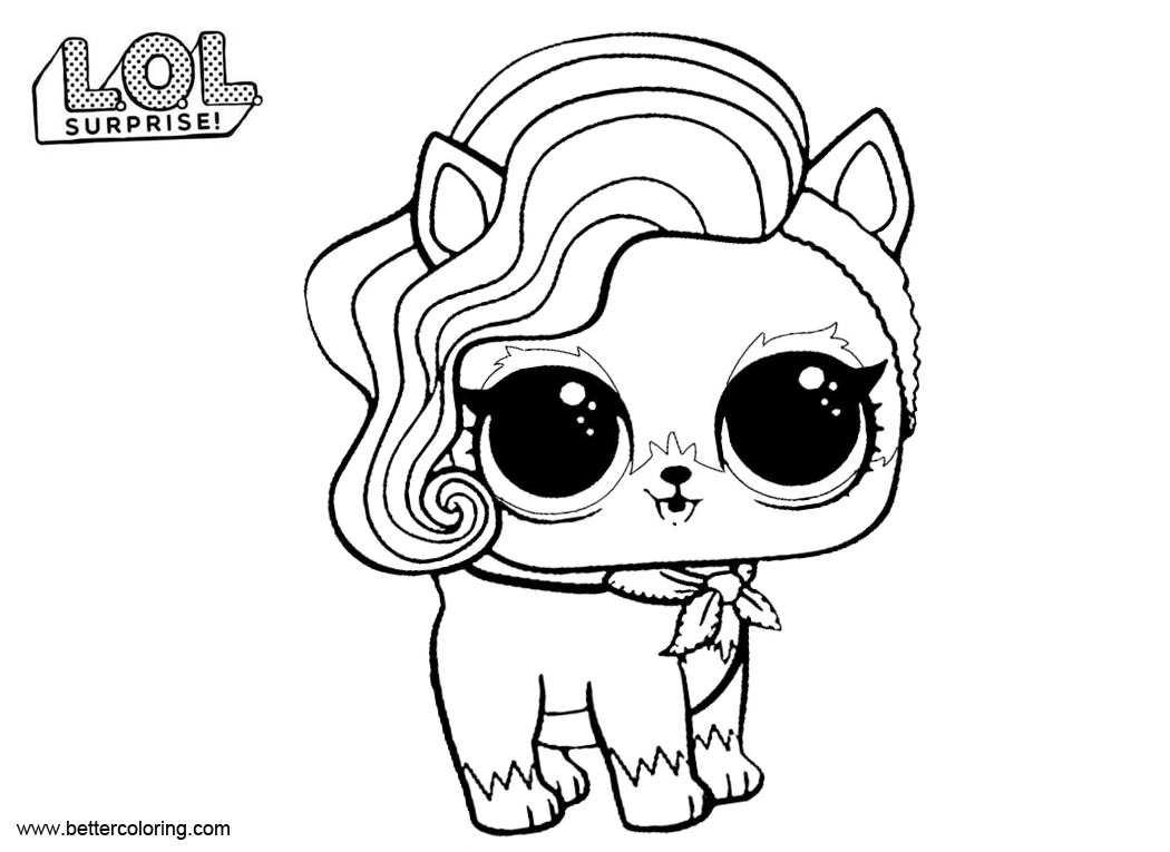 Sur fur Puppy from LOL Pets Coloring