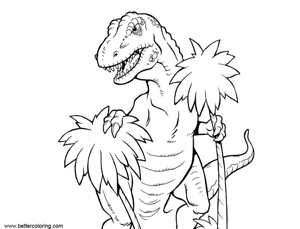 Free T Rex from Jurassic World Fallen Kingdom Coloring Pages printable