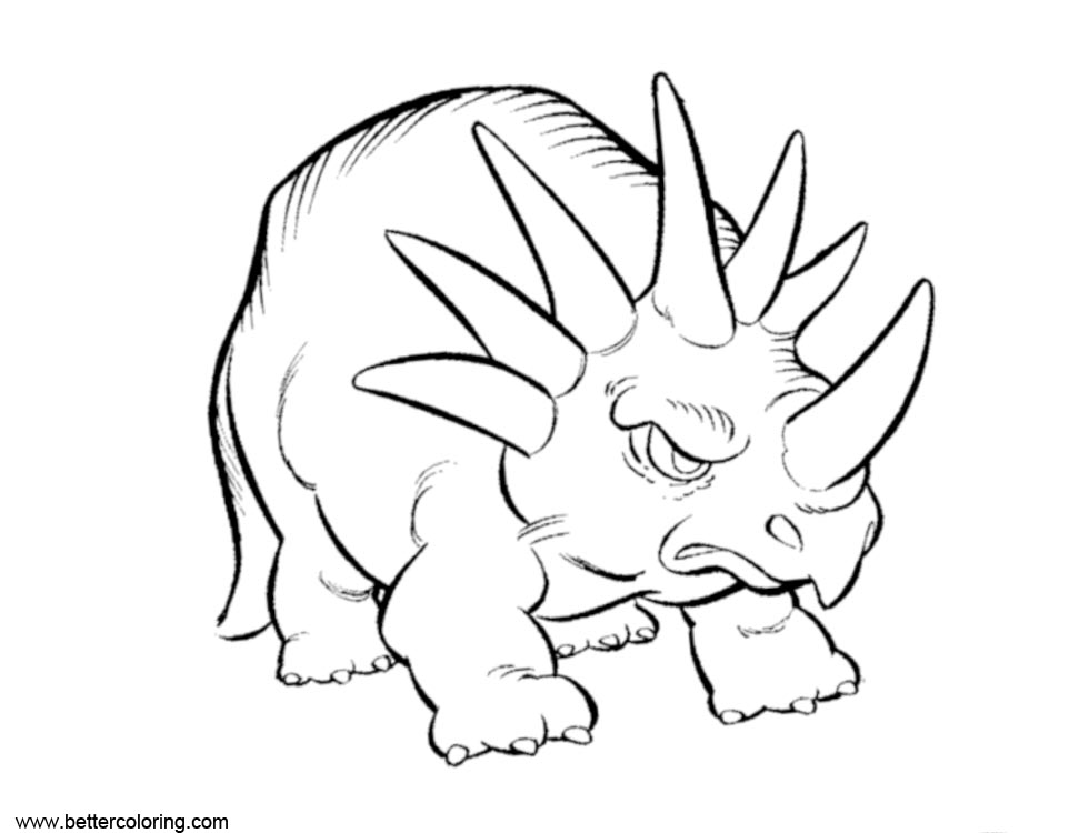 Free Triceratops Dinosaur of Jurassic World Fallen Kingdom Coloring Pages printable