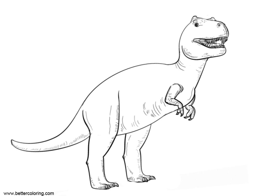 Free Tyrannosaurus Rex from Jurassic World Fallen Kingdom Coloring Pages printable