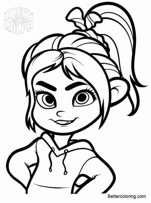 Free Vanellope from Wreck It Ralph Coloring Pages printable
