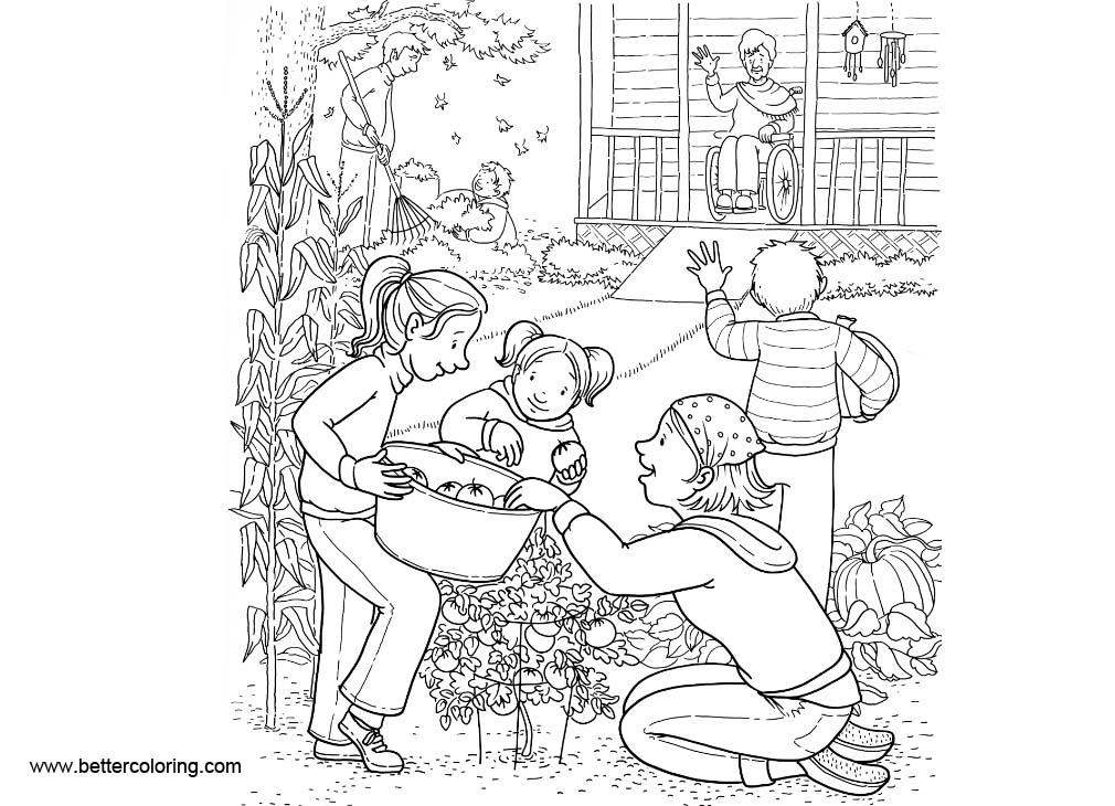 Free Vegetable Garden Coloring Pages printable