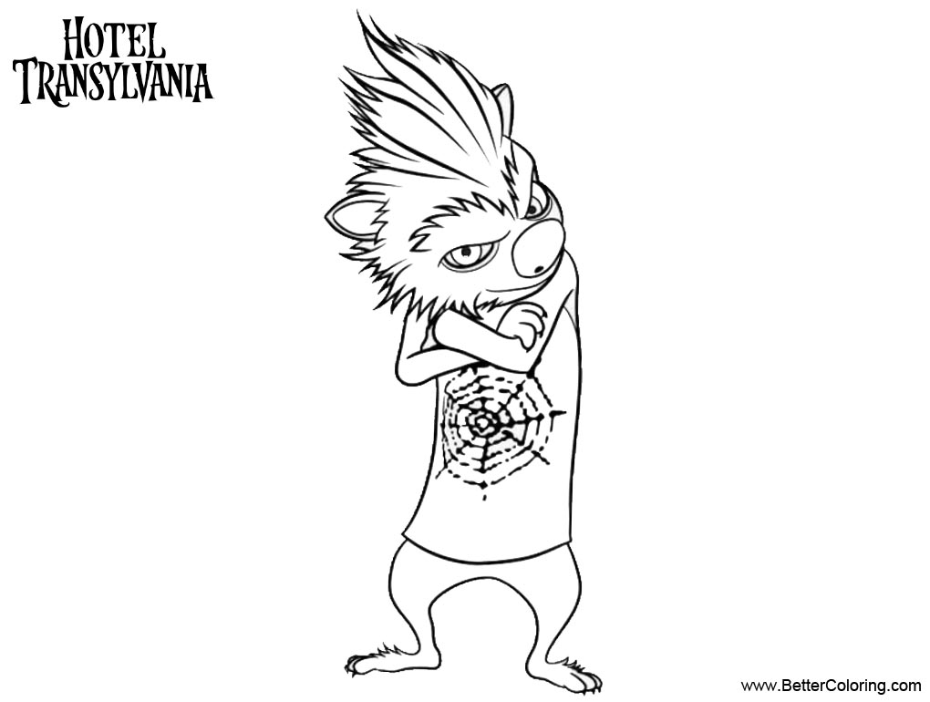 Free Werewolf Kids Hotel Transylvania Coloring Pages printable