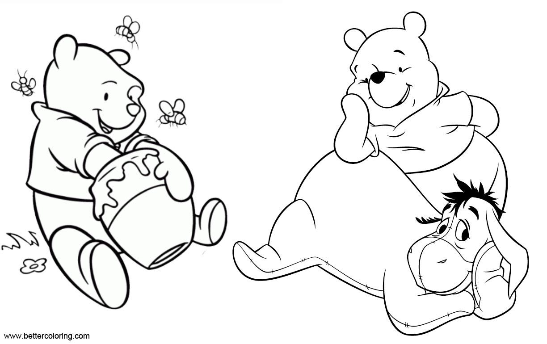 Free Winnie the Pooh Eeyore Coloring Pages printable