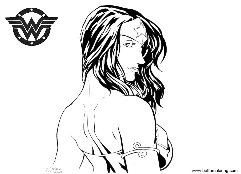 Free Wonder Woman Coloring Pages Fan Art by AndrewKwan printable