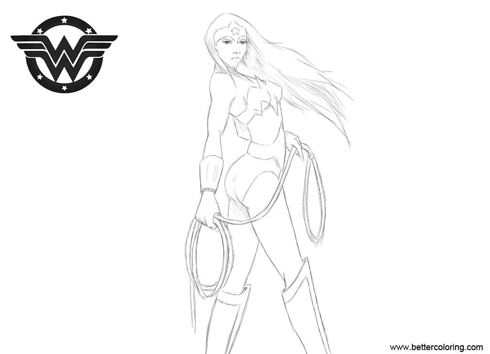 Free Wonder Woman Coloring Pages Sketch by ArtFreakA printable