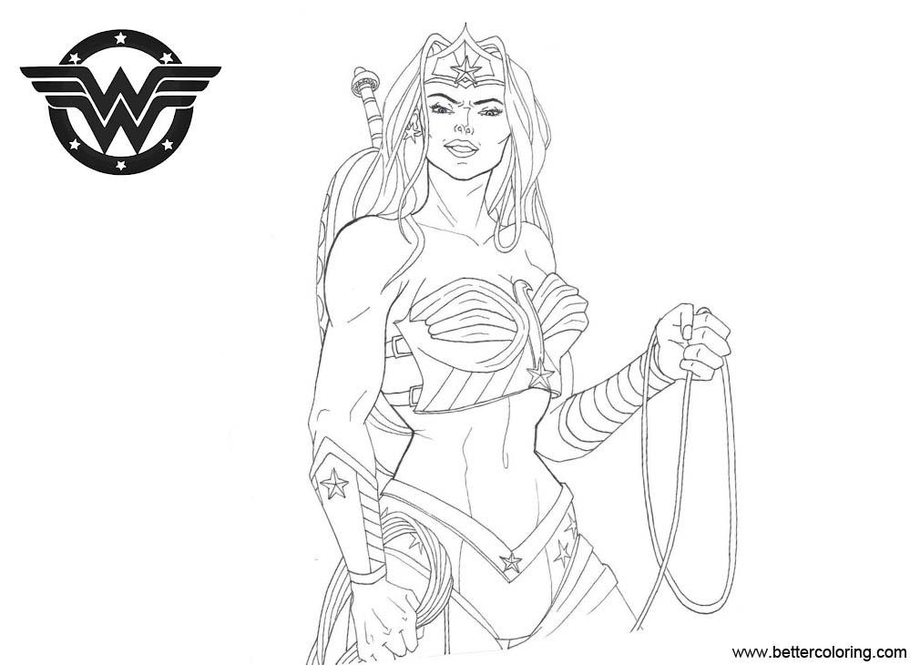 Free Wonder Woman Coloring Pages Super Girl by happyzuko printable