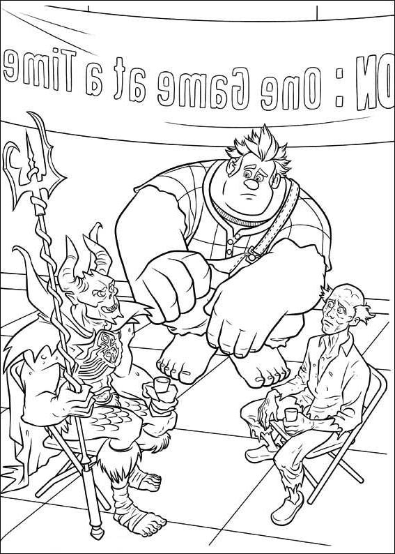 Free Wreck It Ralph Coloring Pages Characters Ralph and Cybug printable