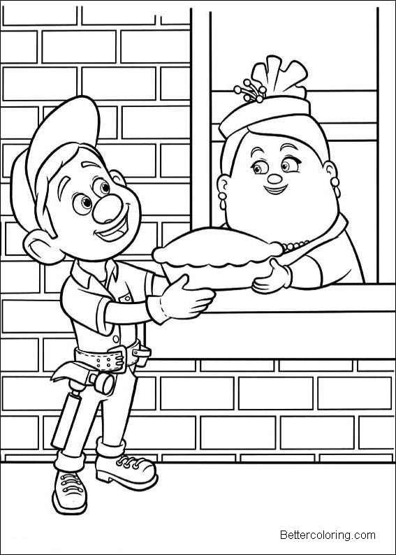 Free Wreck It Ralph Coloring Pages Felix printable