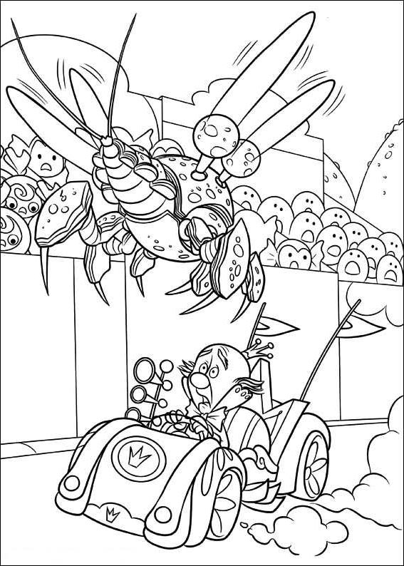 Free Wreck It Ralph Coloring Pages King Candy and Cybug printable