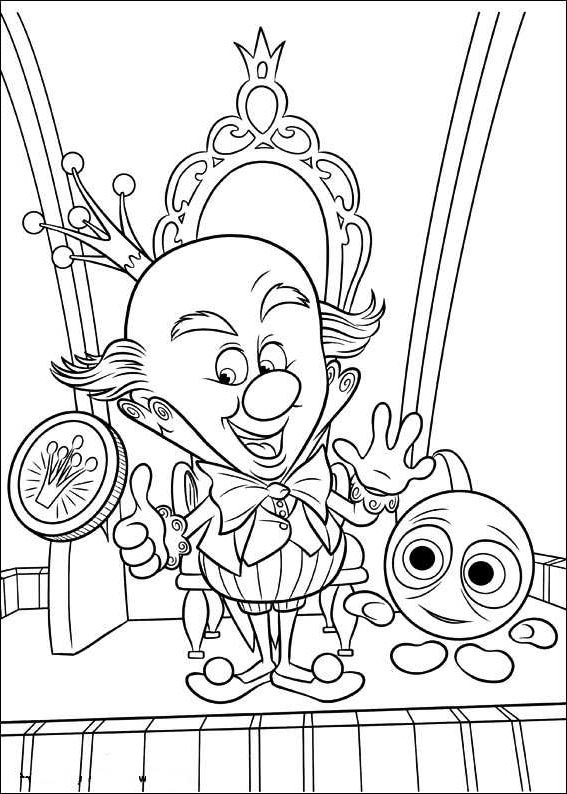 Free Wreck It Ralph Coloring Pages King Candy printable