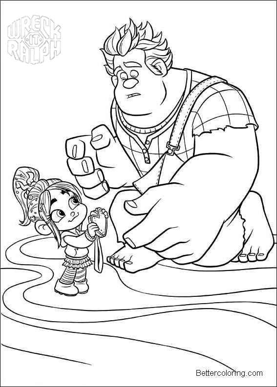 Free Wreck It Ralph Coloring Pages Linear printable