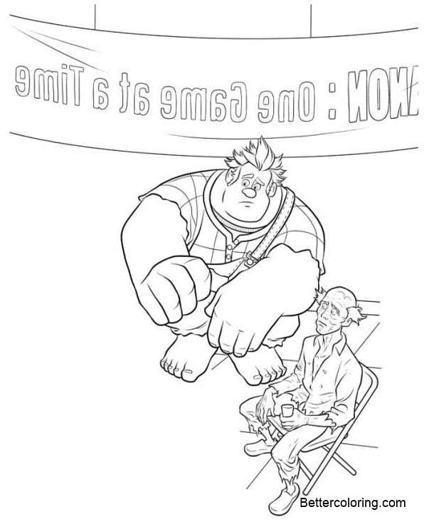Free Wreck It Ralph Coloring Pages One Game at a Time printable