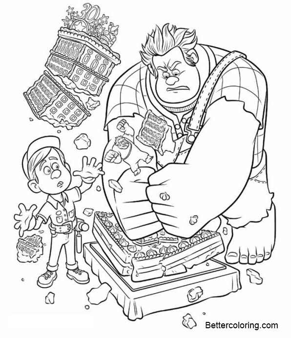 Free Wreck It Ralph Coloring Pages Ralph and Felix printable