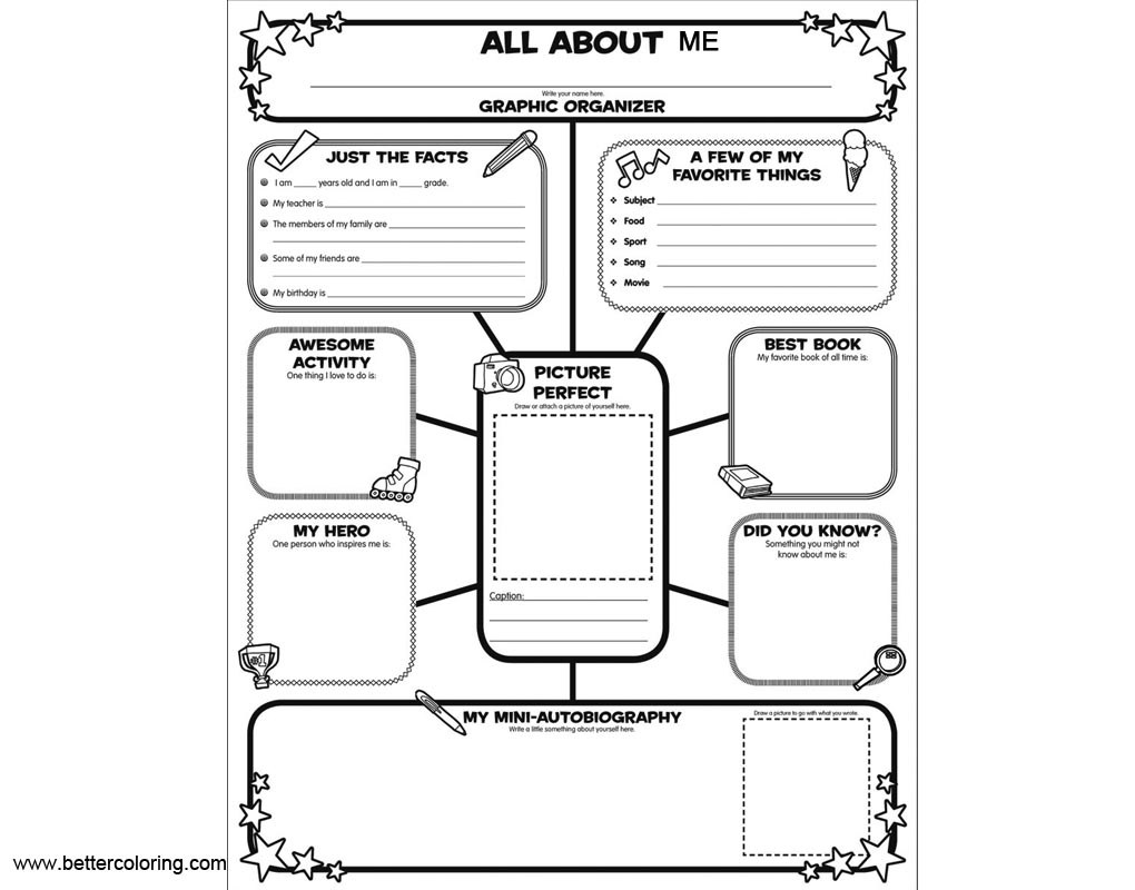 All About Me Coloring Pages Worksheets Free Printable Coloring Pages