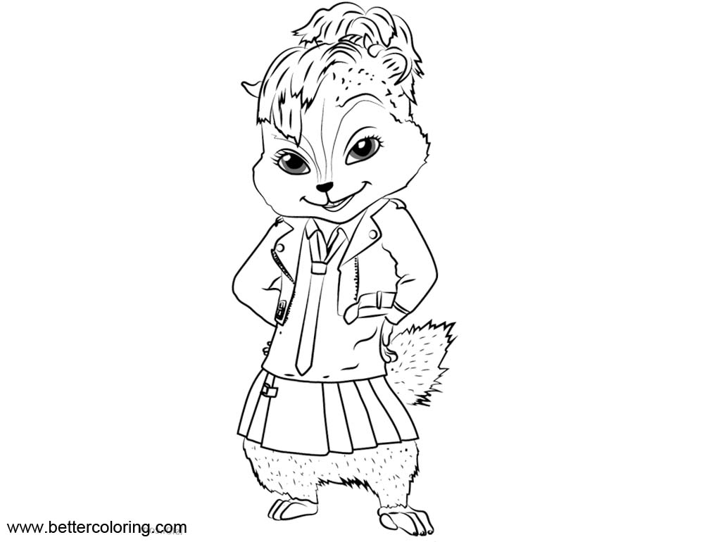 Alvin And The Chipmunks Brittany Coloring Pages - Free ...