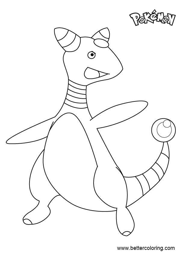 Free Ampharos from Pokemon Coloring Pages printable