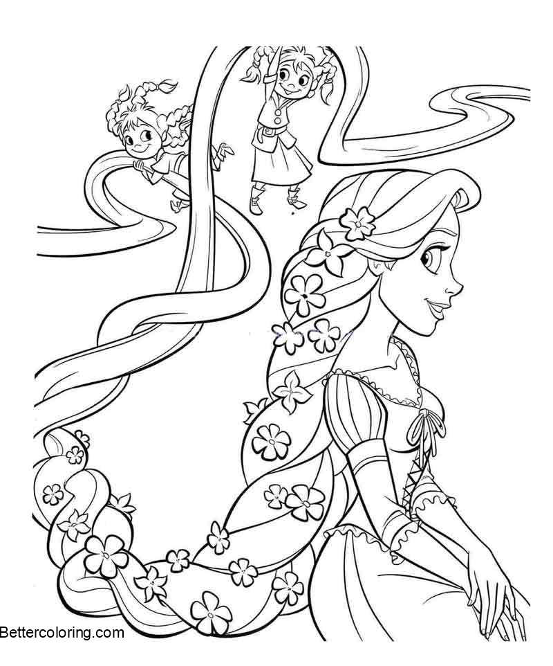 Free Astonishing Baby Disney Princess Coloring Pages Of Tangled Rapunzel printable