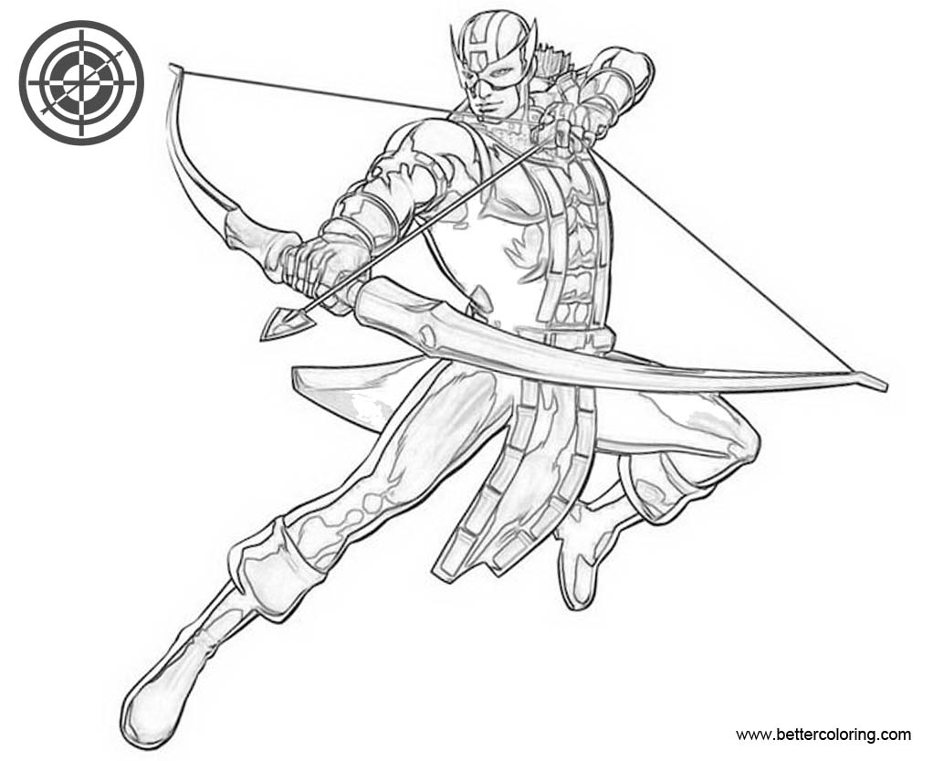 Avengers Hawkeye Coloring Pages
