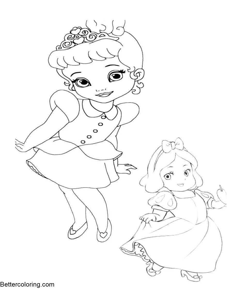 Awesome Baby Disney Princess Coloring Pages Collection