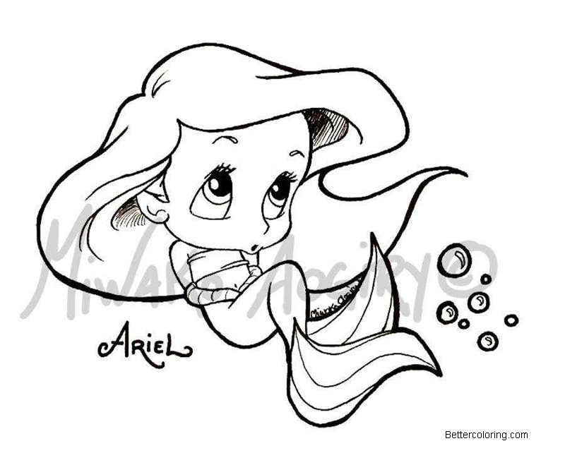 Free Baby Disney Princess Coloring Pages Disney Princess Ariel printable