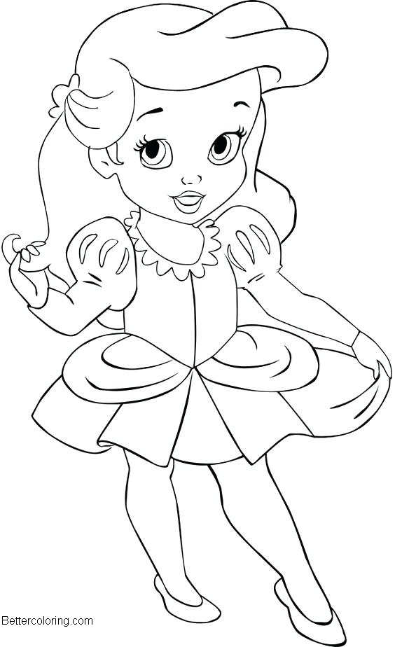 Baby Disney Princess Coloring Pages Easy Drawing - Free ...