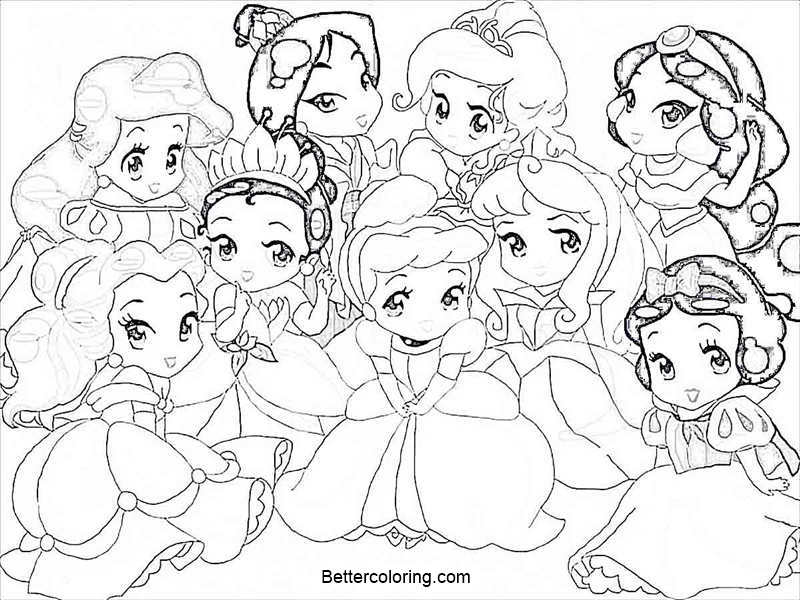 Baby Disney Princess Coloring Pages Free Print Free Printable