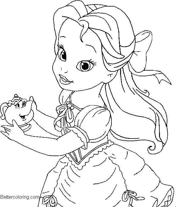 disnet princesses babies coloring pages - photo#6
