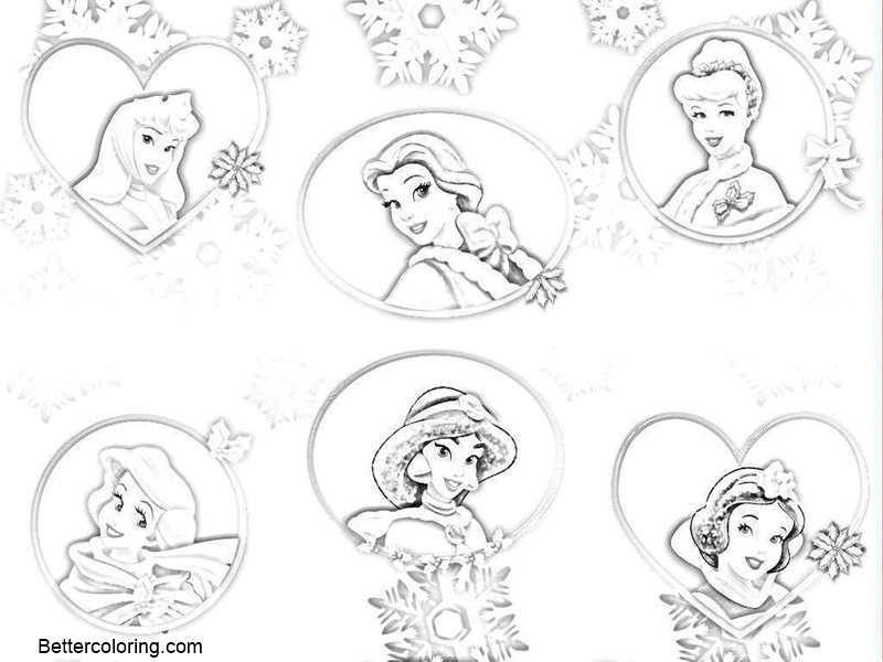 Baby Disney Princesses Coloring Pages Clipart Free