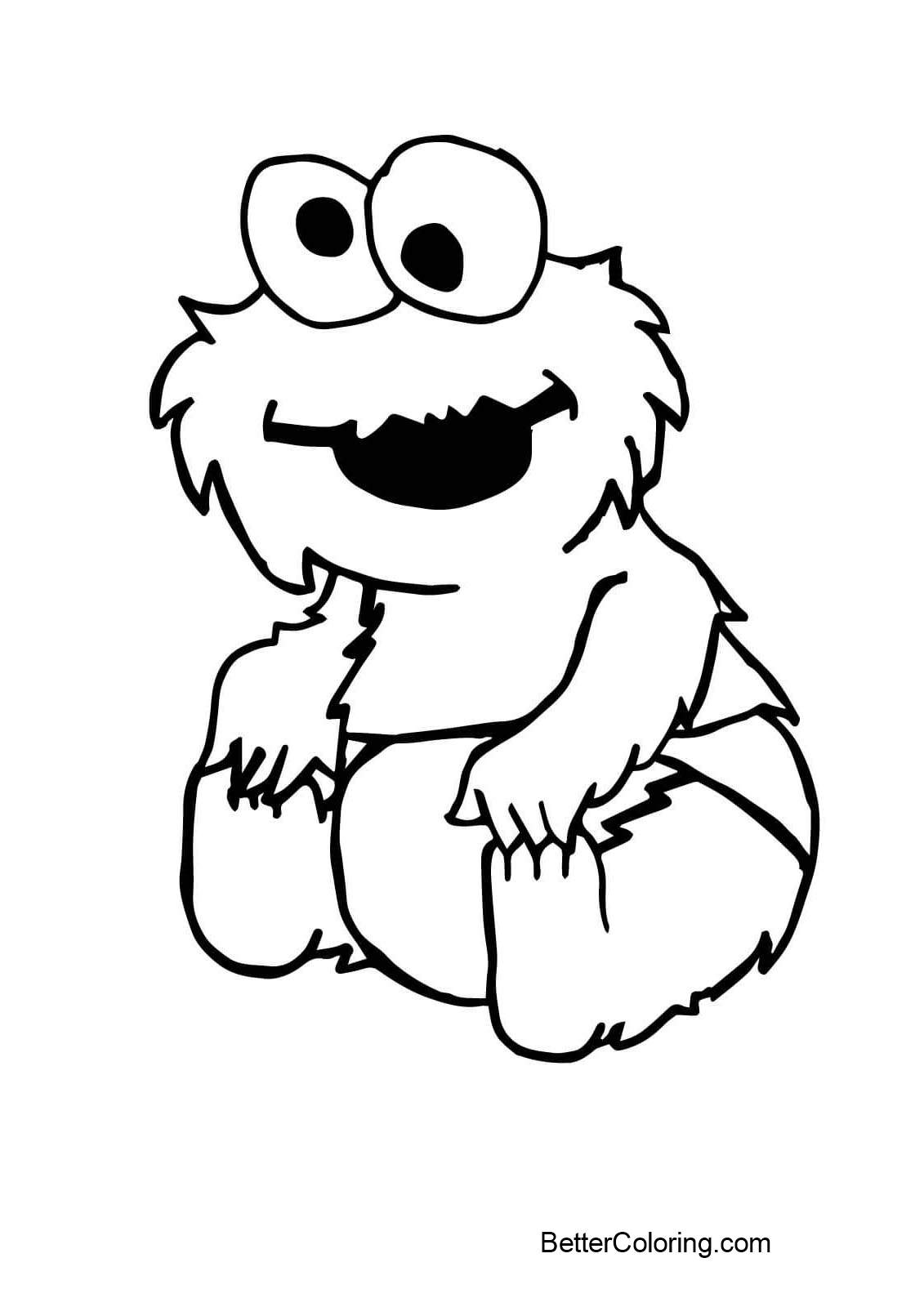 Free Baby Elmo Coloring Pages Lineart printable