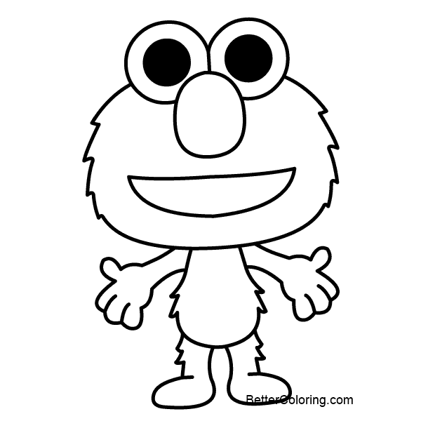 Baby Elmo Coloring Pages - Free Printable Coloring Pages