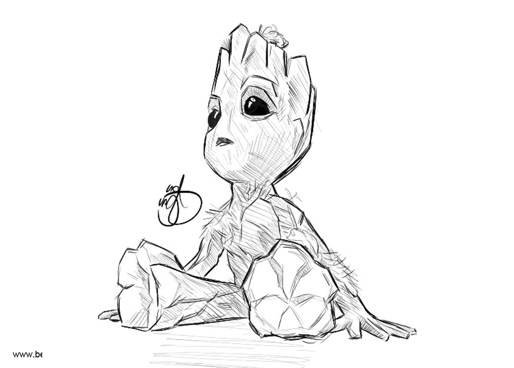 Baby Groot Coloring Pages Fan Drawing Pictures - Free ...