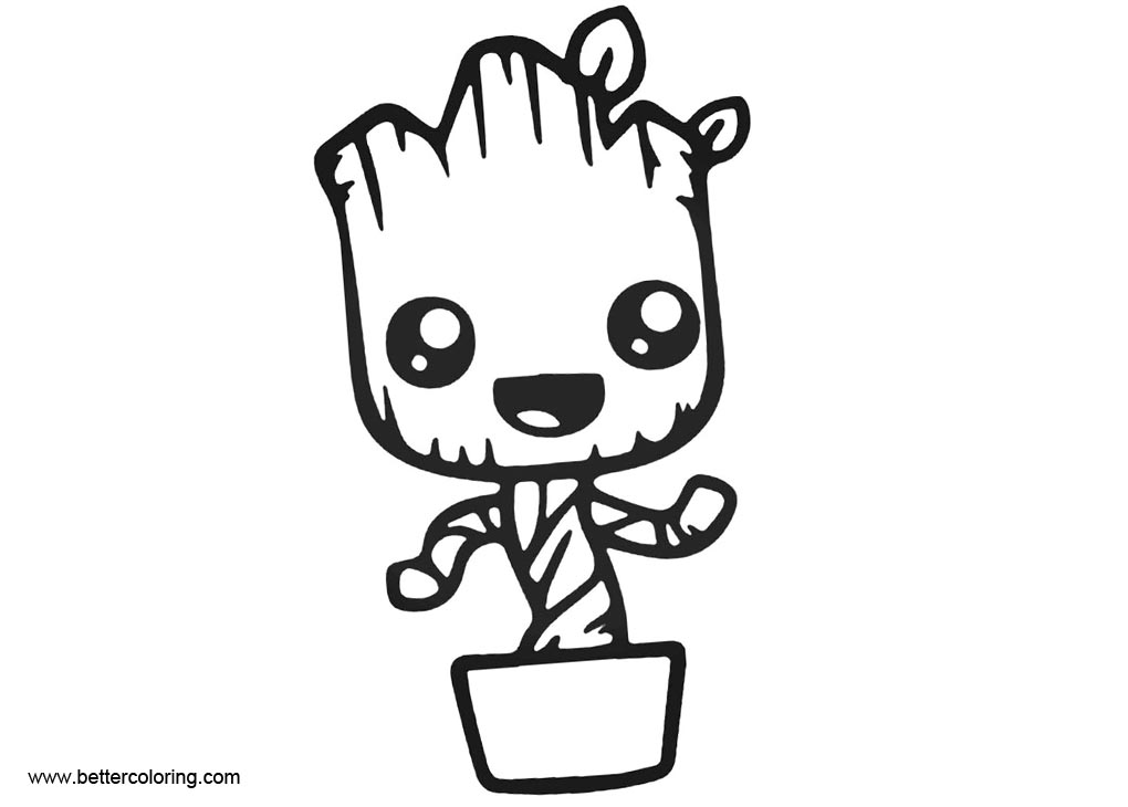 Free Baby Groot Coloring Pages printable