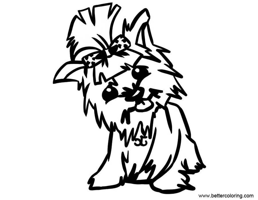 Free Baby Yorkie Coloring Pages printable
