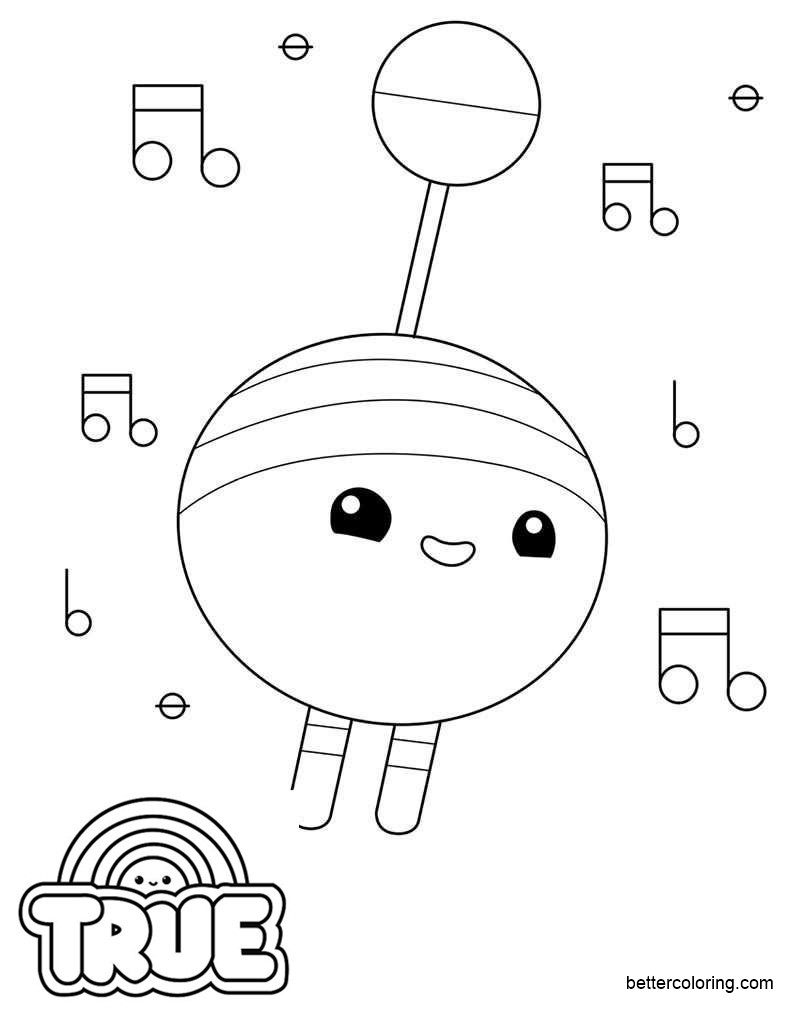 Free Beepaw from True and the Rainbow Kingdom Coloring Pages printable