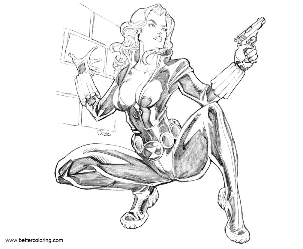 Black Widow Coloring Pages Fan Art by guinnessyde - Free ...
