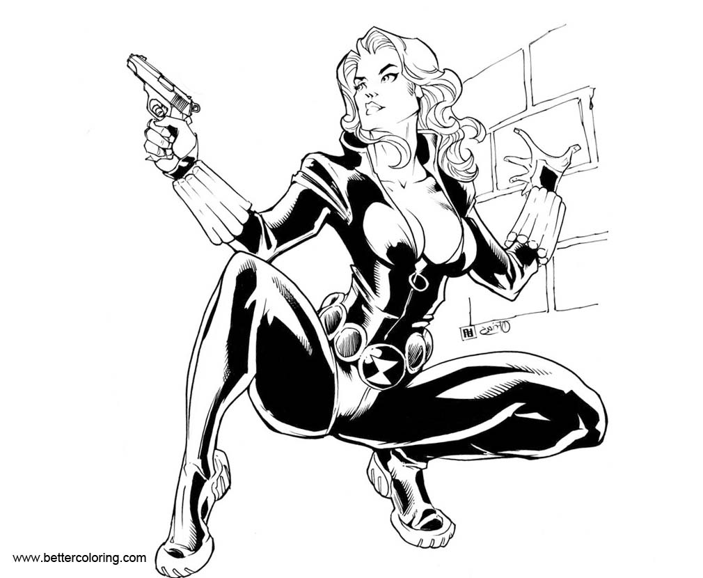free black widow coloring pages - photo#13