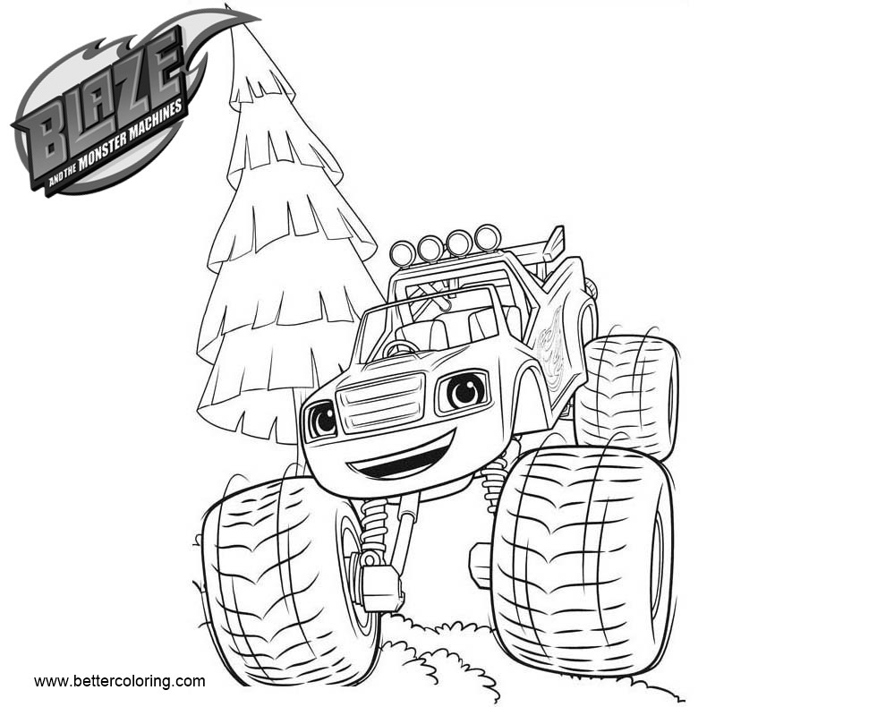 Blaze And The Monster Machines Coloring Pages Blaze Lineart Free