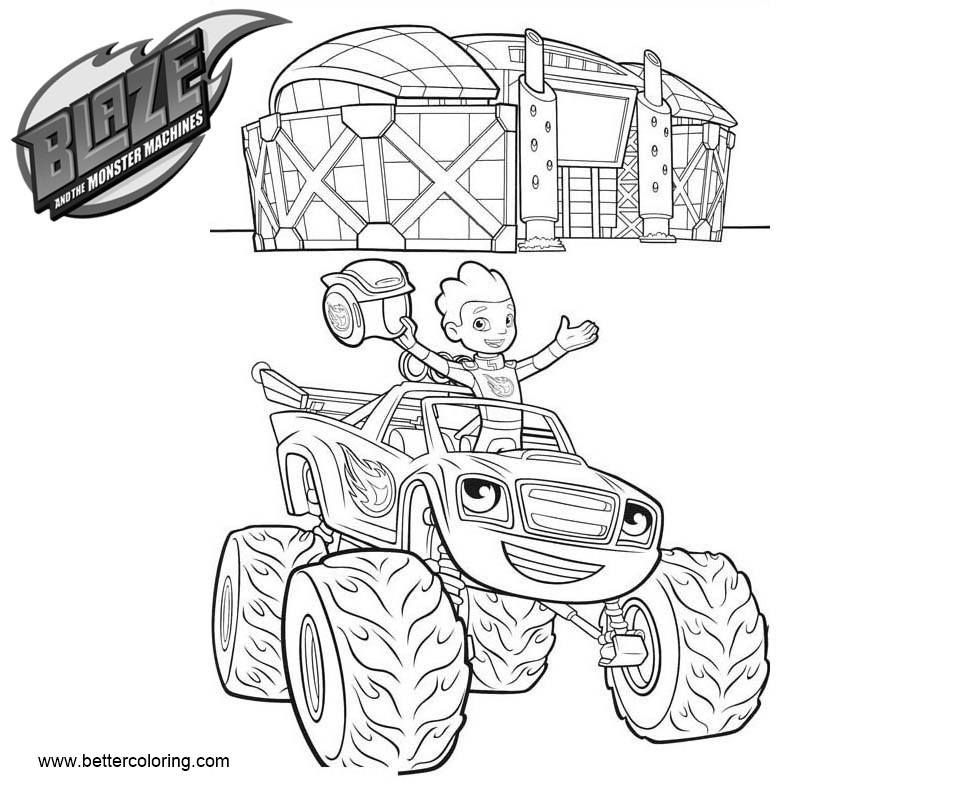 Free Blaze and the Monster Machines Coloring Pages Blaze and Aj printable