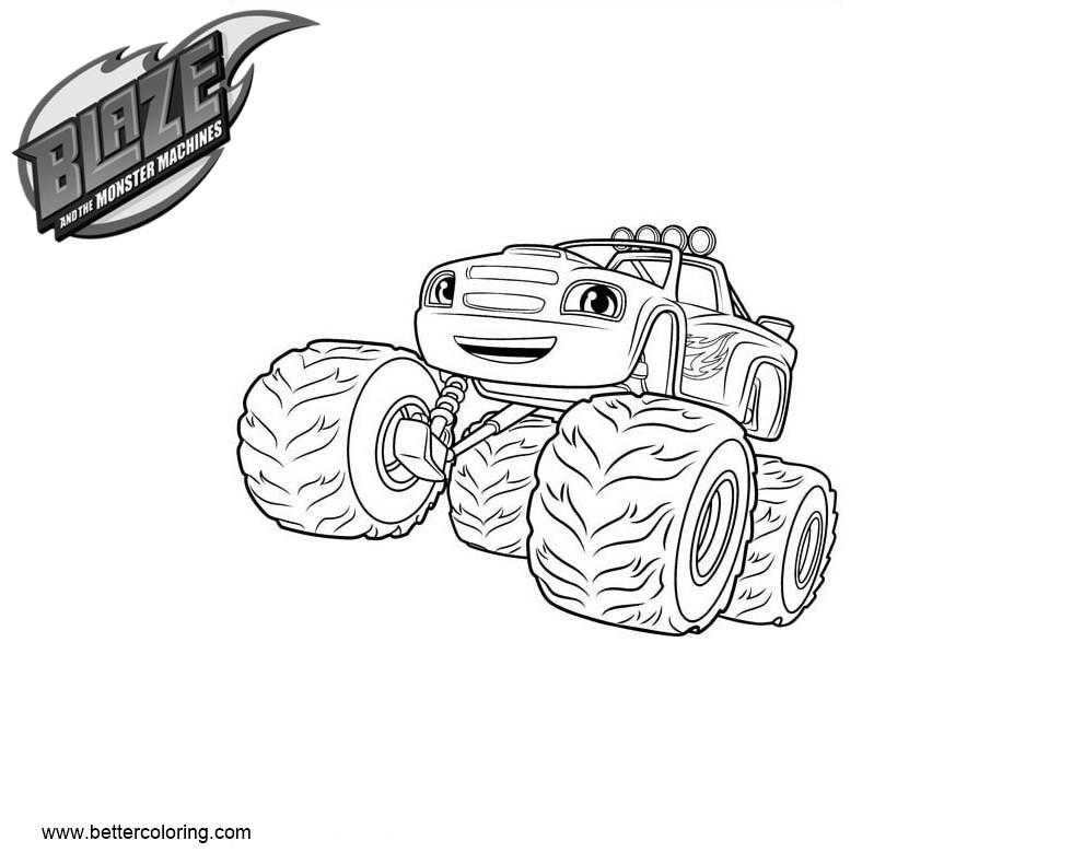 Blaze And The Monster Machines Coloring Pages Blaze Picture Free