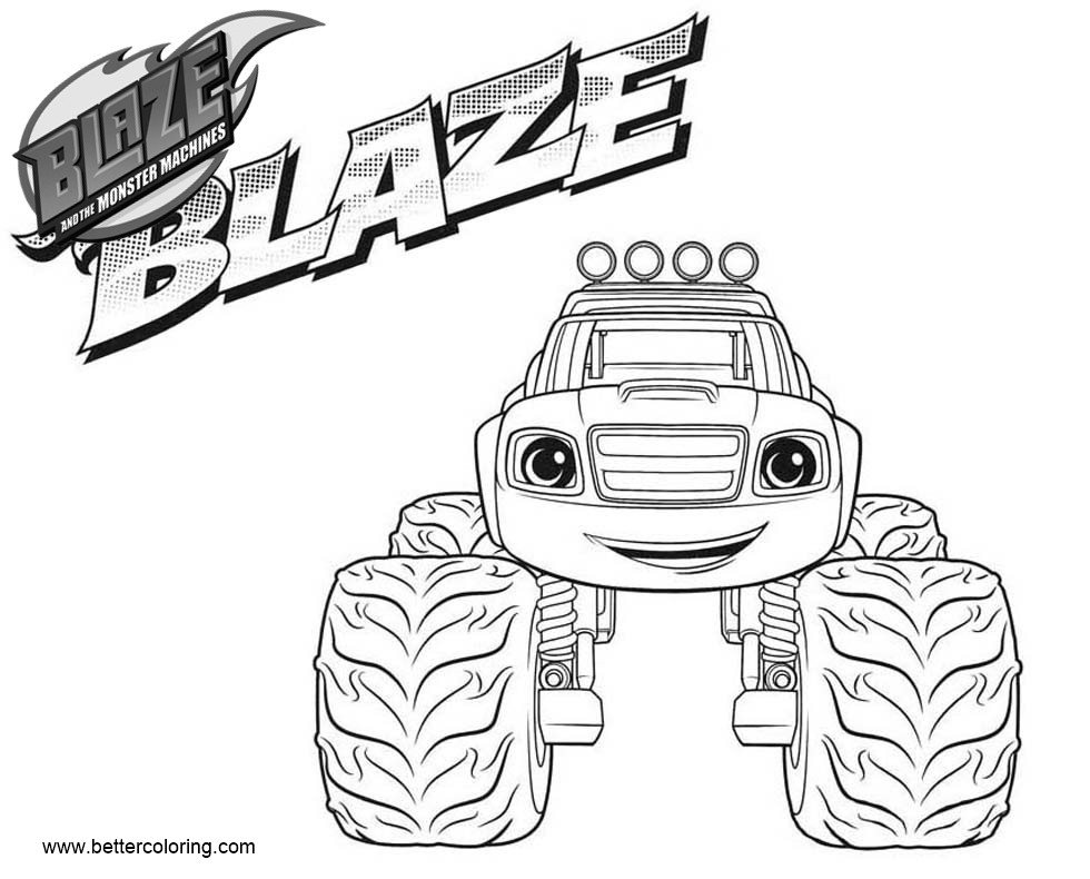 Blaze And The Monster Machines Coloring Pages Blaze Free Printable