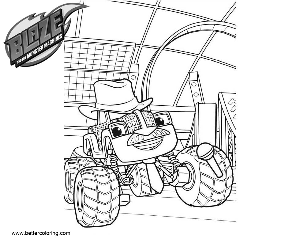 Free Blaze and the Monster Machines Coloring Pages bump bumperman printable