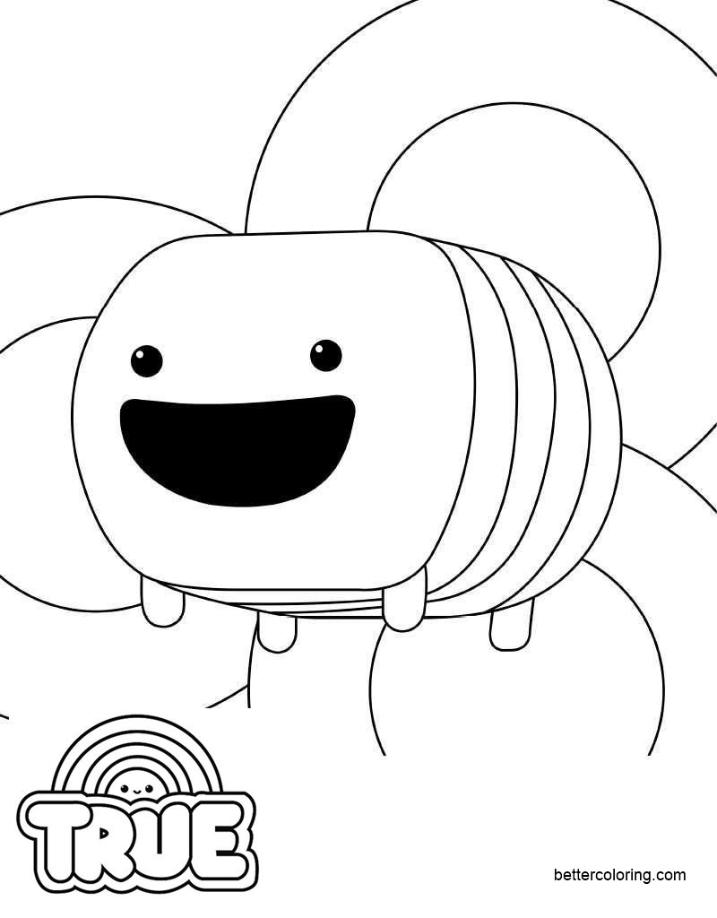 Free Bloxo from True and the Rainbow Kingdom Coloring Pages printable