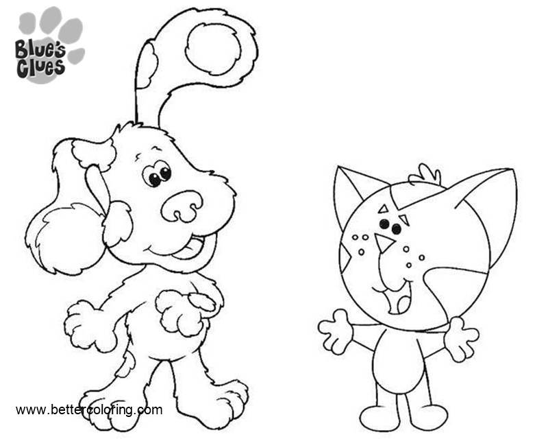 Free Blue's Clues Coloring Pages Cat Periwinkle printable