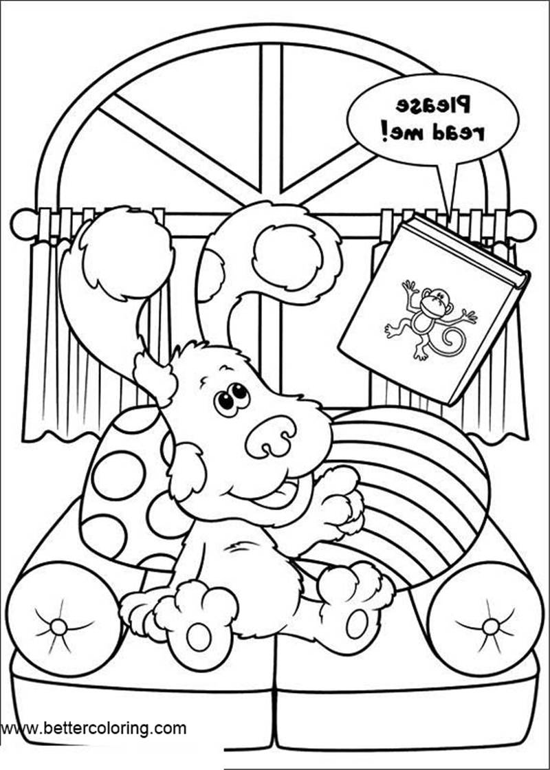 Free Blue's Clues Coloring Pages Clipart printable